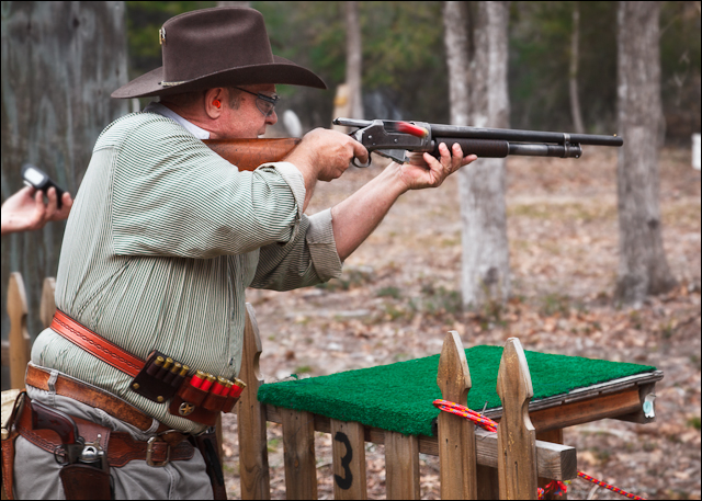Winchester 1897 Shotgun in Action